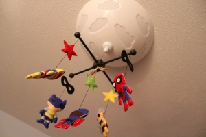 Super Hero Mobile!  Featuring Batman, Spiderman, Thor, Captain America and Cyclops